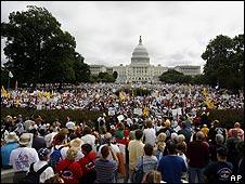 Protesta contra reforma de salud - DC