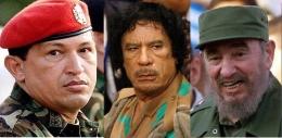 Chávez-Gaddafi-Castro